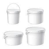 Mocap for design. White plastic buckets.