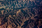 Aerial view of Peruvian Andes natural pattern, dramatic landscape - Peru