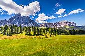 Idyllic Alpine landscape near St Magdalena - Val di Funes, Dolomites alps – Italy