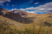 Cordillera Blanca idyllic landscape and meadows near Huaraz - Ancash Andes, Peru
