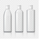 Cool Realistic White plastic bottle.