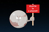 PLUTO is a planet. Vector illustration