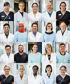 Multicultural Team of Health, Medical and Science Professionals