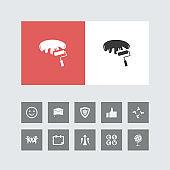 Creative Paint Brush Icon with Bonus Icons.