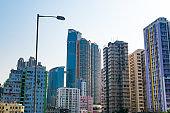 Residential buildings on Tsuen Wan bay, New Territories, Hong Kong