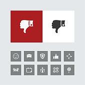 Creative Dislike Icon with Bonus Icons.