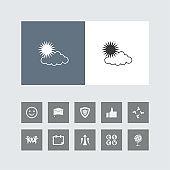 Creative Weather Icon with Bonus Icons.