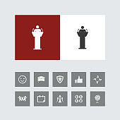 Creative Speaker Icon with Bonus Icons.