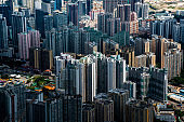 Hong Kong Kowloon city skyline