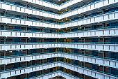 Apartment Building Detail in Hong Kong
