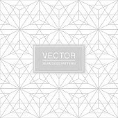 Abstract seamless geometric pattern - creative triangle white and grey texture. Decorative monochrome background - polygonal design