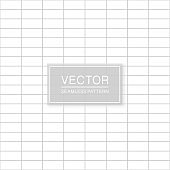 Simple seamless grid pattern - minimalistic striped design. Abstract trendy background. White and grey squared texture