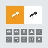 Creative Microphone Icon with Bonus Icons