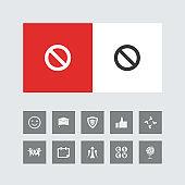 Creative Restricted Icon with Bonus Icons.