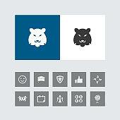 Creative Lion Icon with Bonus Icons.