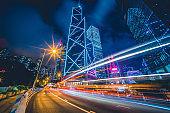 City Traffic Light Trail, Hong Kong