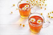 Healthy chamomile herbal tea
