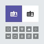 Creative Identity card Icon with Bonus Icons