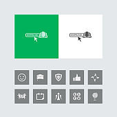 Creative Online E-Book Download Icon with Bonus Icons