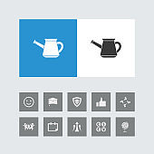 Creative Watering Can Icon with Bonus Icons.