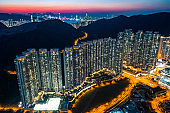 Drone view of residential District in Tseung Kwan O, Hong Kong