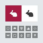 Creative Rabbit Icon with Bonus Icons.