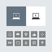 Creative Laptop Icon with Bonus Icons.