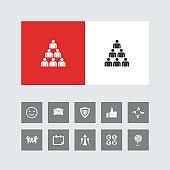 Creative Team Icon with Bonus Icons