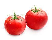 Fresh ripe red juicy tomatoes
