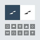 Creative Trowel Icon with Bonus Icons.