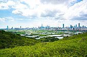 Beautiful landscape of skylines of Shenzhen,China