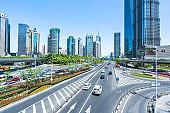 Inner city road, Shanghai, China