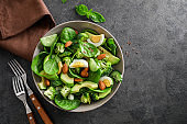 Healthy delicious vegetable avocado salad