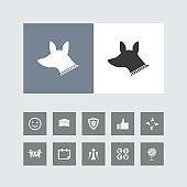 Creative Dog Icon with Bonus Icons.