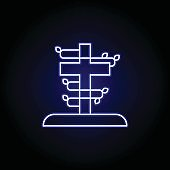 cross, death, grave outline blue neon icon. detailed set of death illustrations icons. can be used for web, logo, mobile app, UI, UX