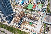 Construction site in Nam Cheong, Hong Kong