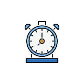 time management line colored icon. Teamwork at the idea. Signs and symbols can be used for web, logo, mobile app, UI, UX