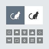 Creative Cat Icon with Bonus Icons.