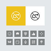 Creative No Horn Icon with Bonus Icons.