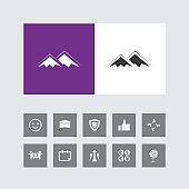 Creative Mountain Icon with Bonus Icons.