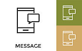 Editable Message Icon with Title. Useful For Mobile Application, Website, Software and Print Media.