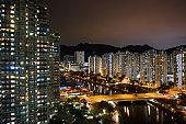 Drone view of Sha Tin District, Sha Tin, Hong Kong