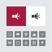 Creative Mute Icon with Bonus Icons