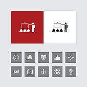 Creative Team Training Icon with Bonus Icons