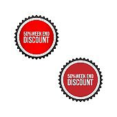Sale tag badge template 50 off sale label vector image