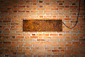 brick wall texture with light