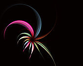 Magic spiral flowers. Abstract fractal.