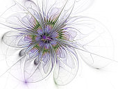 Abstract futuristic bloom. Modern high resolution Сomputer generated abstract