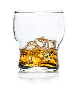 Isolated whiskey glass