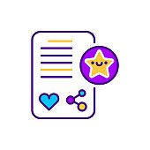 Placement of paid publications line color icon. SMM promotion. Sign for web page, mobile app, button, logo. Vector isolated element. Editable stroke.
